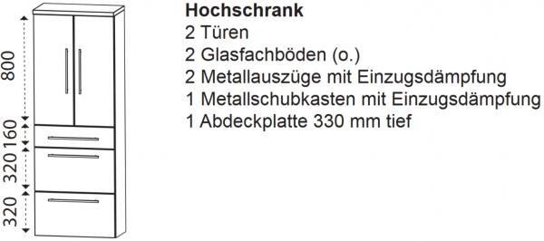 Laguna Hochschrank B