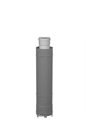 Viessmann Überdachverlängerung DN60/100,schwarz 0,5m