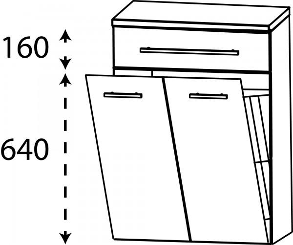 Strichzeichnung Laguna Highboard J mit Wäschekippe