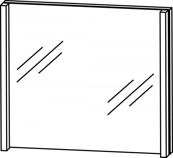 Strichzeichnung Flächenspiegel B