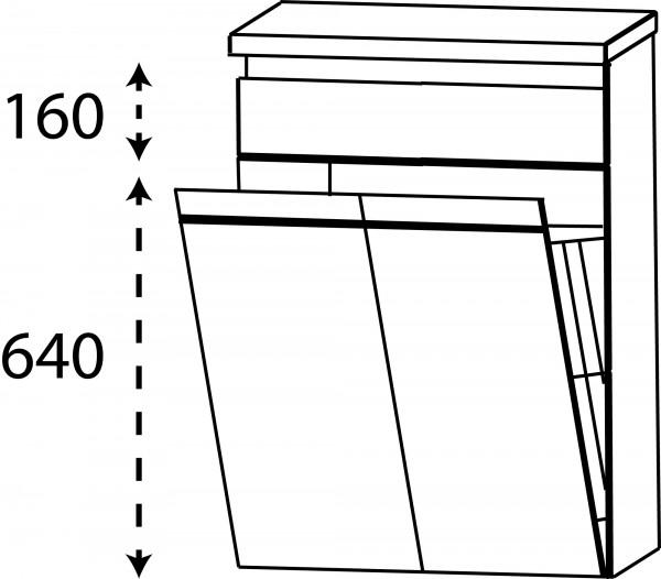 Strichzeichnung Laguna Highboard H mit Wäschekippe Brio