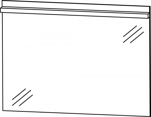 Strichzeichnung Flächenspiegel D