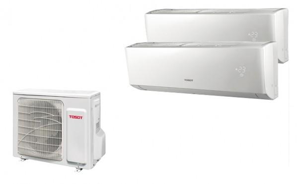 Tosot Multi Split Anlage (5,2kW) mit bis zu 2 Innengeräten 2,6/3,5 kW