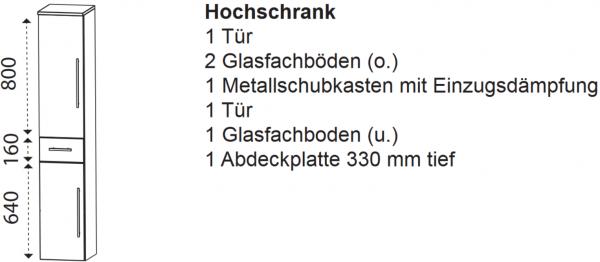 Laguna Hochschrank G