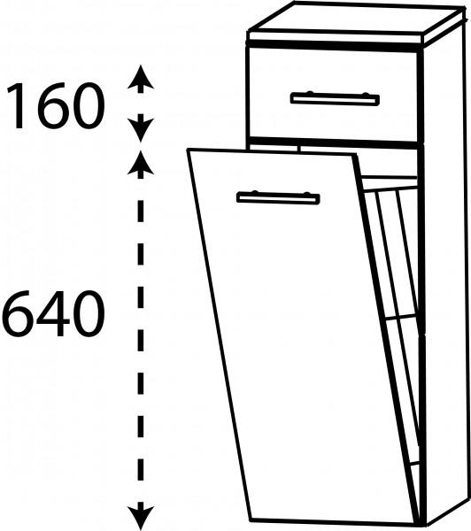 Strichzeichnung Laguna Highboard I mit Wäschekippe