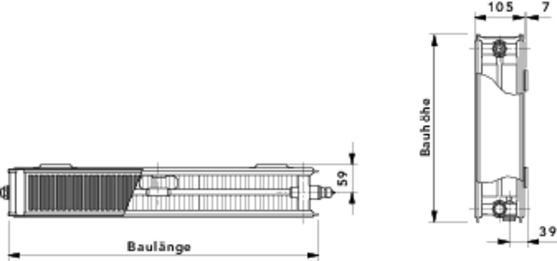 cosmo flachheizk rper profil t6 typ 22 mittenanschluss typ 22 cosmo ventilheizk rper. Black Bedroom Furniture Sets. Home Design Ideas