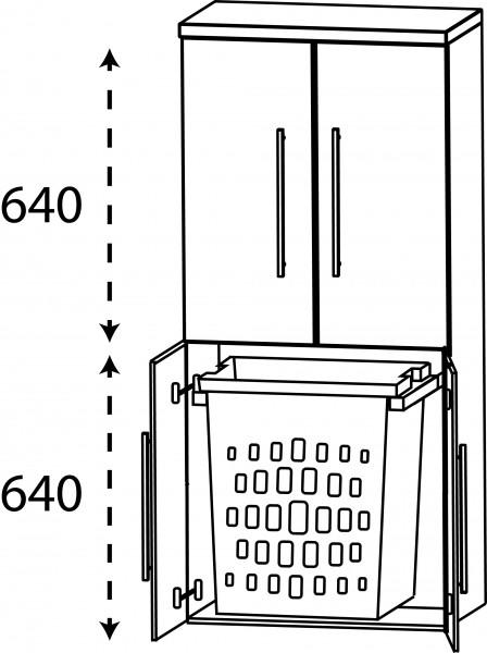 Strichzeichnung Laguna Mittelschrank mit Wäscheauszug C