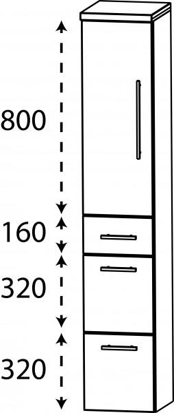 Strichzeichnung Laguna Mittelschrank A links