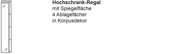 Laguna Hochschrank-Regal B