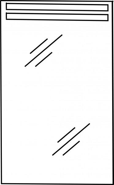 Strichzeichnung Flächenspiegel I