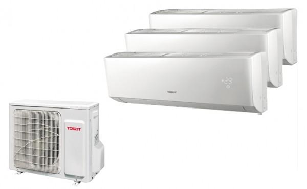 Tosot Multi Split Anlage (7,1 kW) mit bis zu 3 Innengeräte 2,6/ 3,5/ 5,1 kW