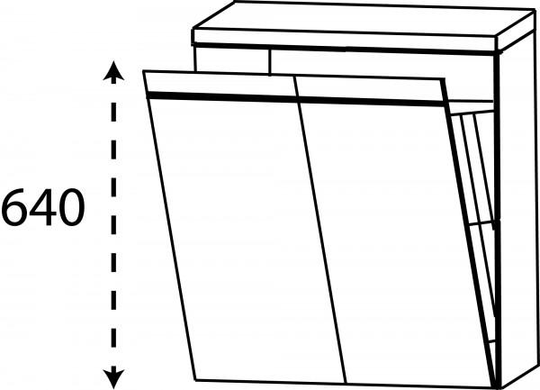 Strichzeichnung Laguna Highboard D mit Wäschekippe Brio