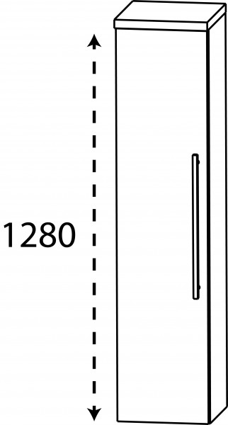 Strichzeichnung Laguna Mittelschrank D links