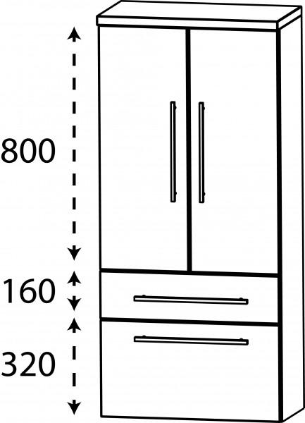 Strichzeichnung Laguna Mittelschrank B