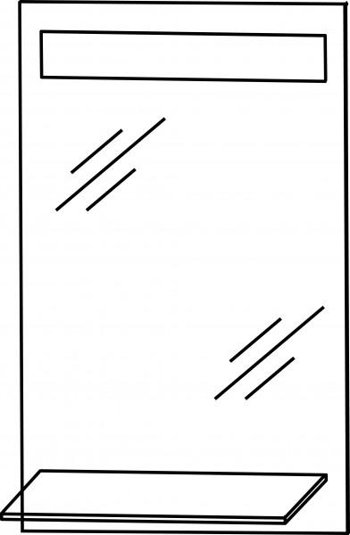 Strichzeichnung Flächenspiegel H