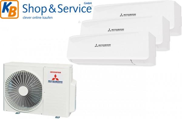 Mitsubishi Klimaanlage Multi-Split: SCM 50 ZS-S + 3x SRK 20 ZS-W