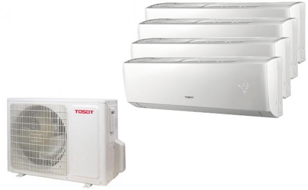 Tosot Multi Split Anlage (10,5kW) mit bis zu 4 Innengeräten 2,6/ 3,5/ 5,1kW