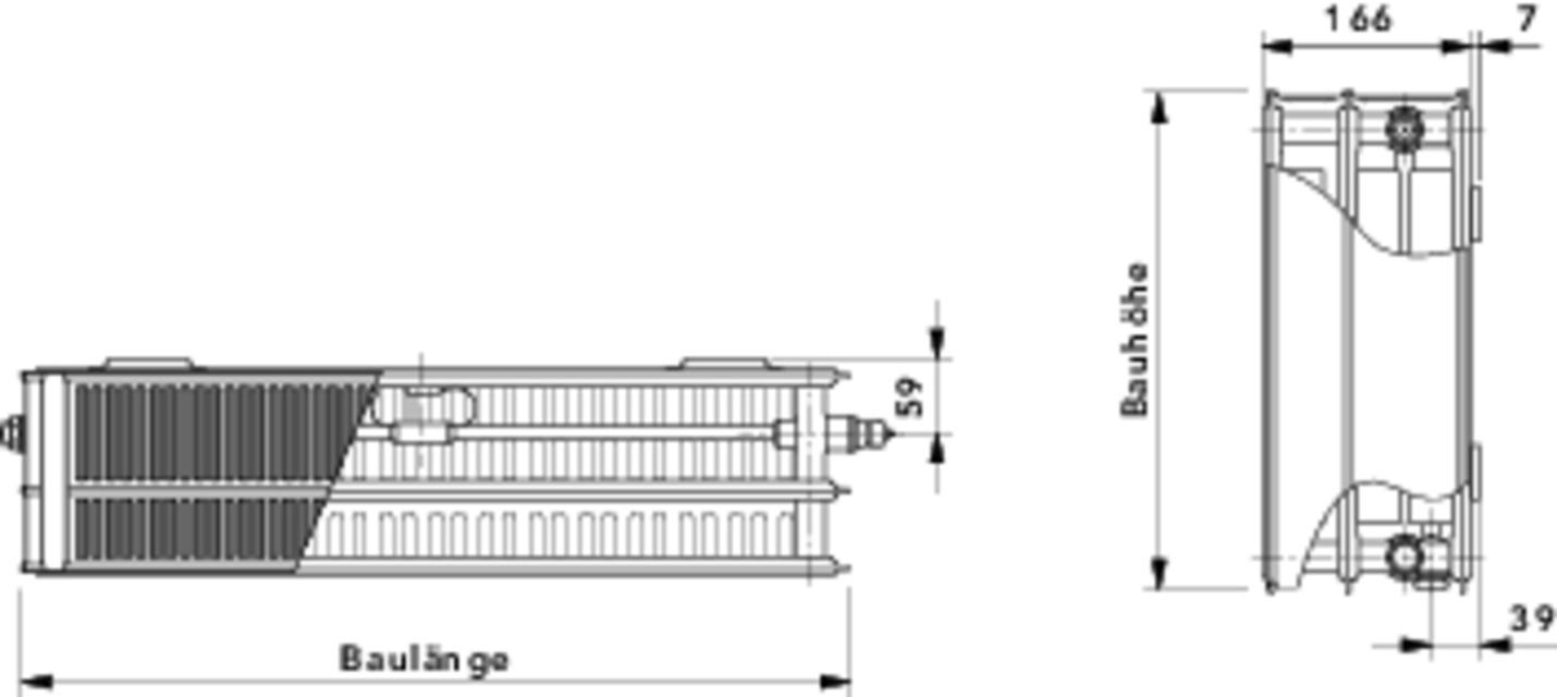 cosmo flachheizk rper profil t6 typ 33 mittenanschluss typ 33 cosmo ventilheizk rper. Black Bedroom Furniture Sets. Home Design Ideas