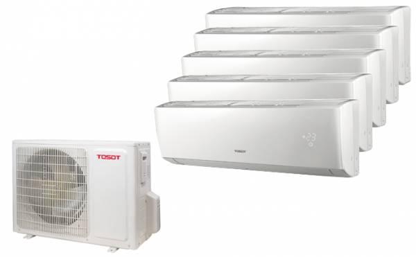 Tosot Multi Split Anlage (12 kW) mit bis zu 5 Innengeräte 2,6/3,5/5,1 kW