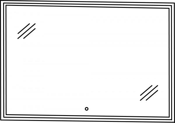 Strichzeichnung Flächenspiegel E