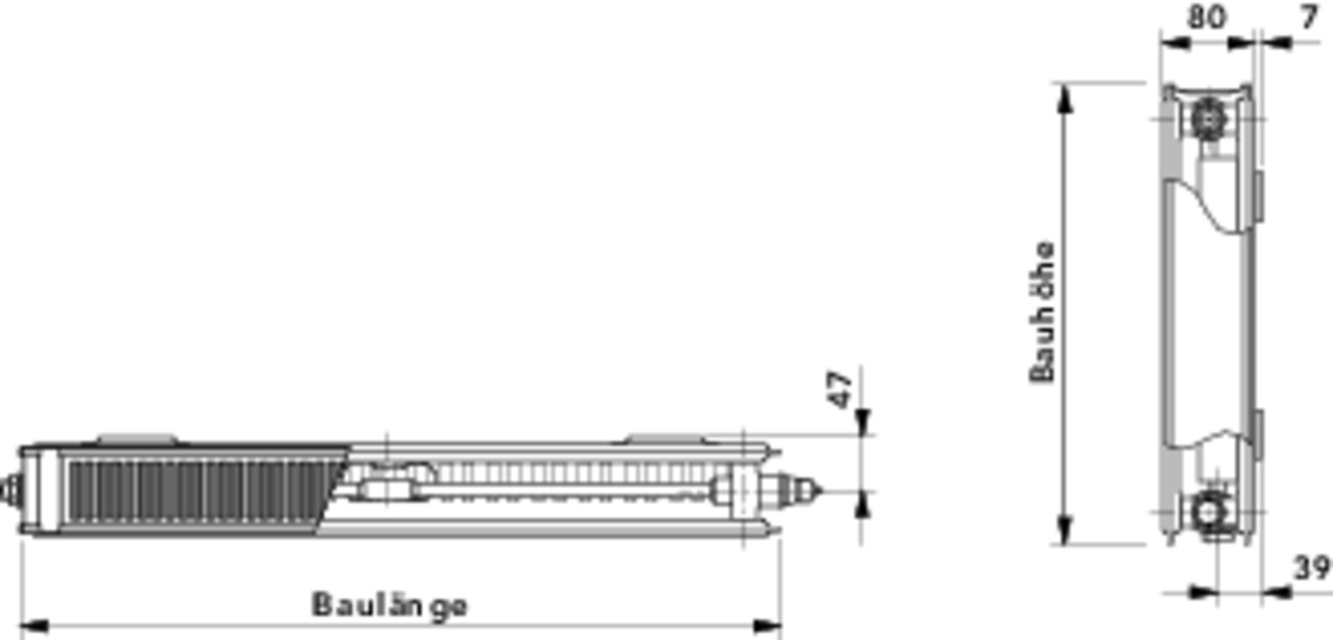 cosmo flachheizk rper profil t6 typ 21 mittenanschluss typ 21 cosmo ventilheizk rper. Black Bedroom Furniture Sets. Home Design Ideas