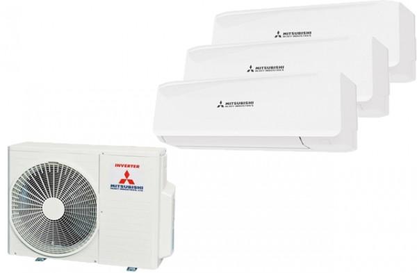 Mitsubishi Klimaanlage Multi-Split: SCM 50 ZS + 2x SRK 20 ZS + SRK 35 ZS