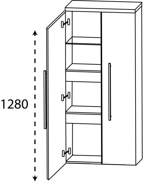 Strichzeichnung Laguna Mittelschrank G mit Innenschubkasten